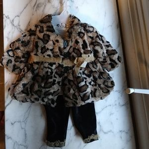Little Lass leopard outfit with coat 🐆